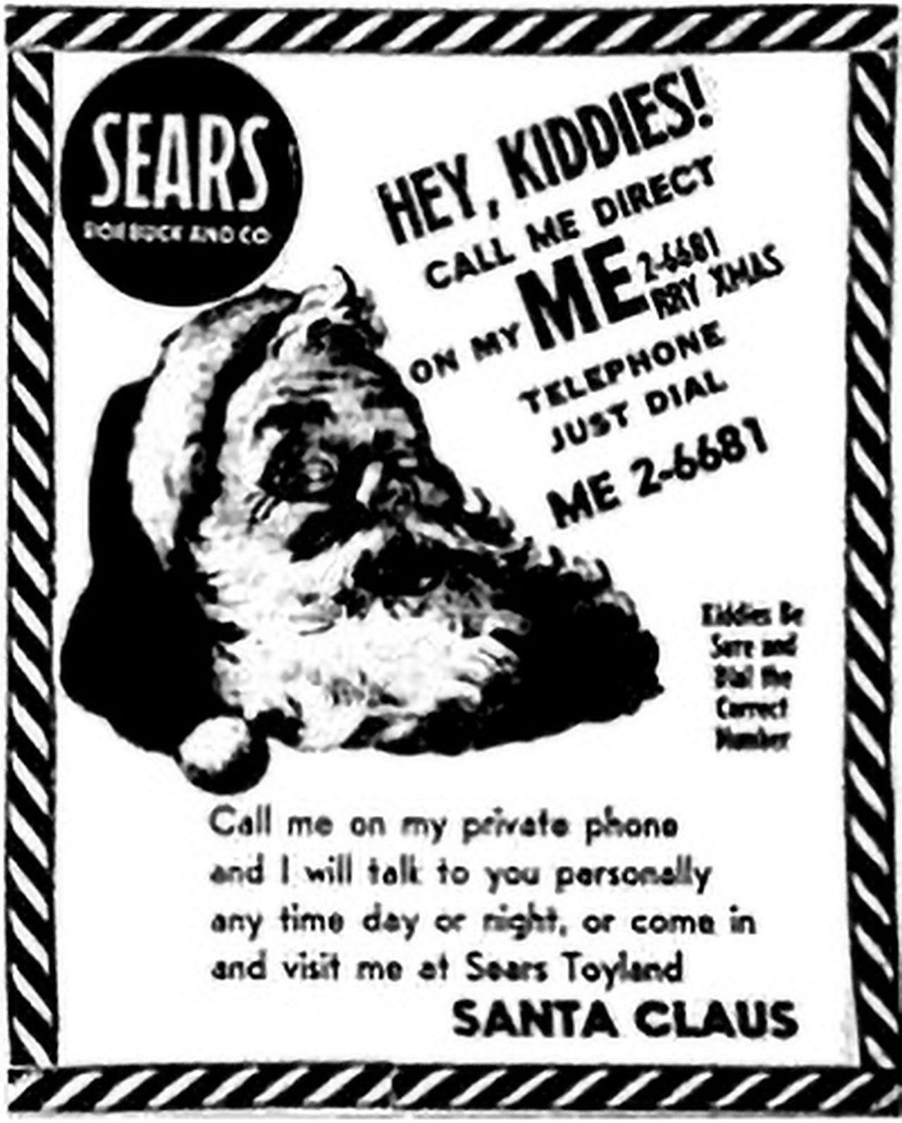 """""""Santa Tracker"""" a început în 1955, după ce un magazin Sears a tipărit greșit un număr de telefon, iar copiii care credeau că îl sună pe Moș Crăciun sunau, de fapt, la NORAD."""