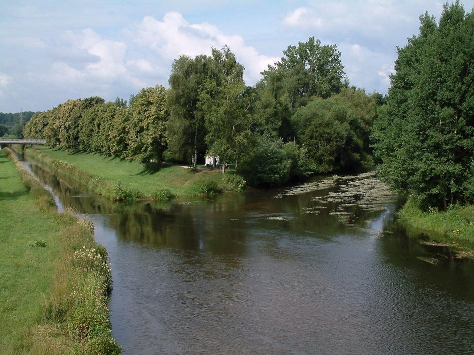 Confluenţa râurilor Breg şi Brigach - locul unde ia naştere Dunărea.