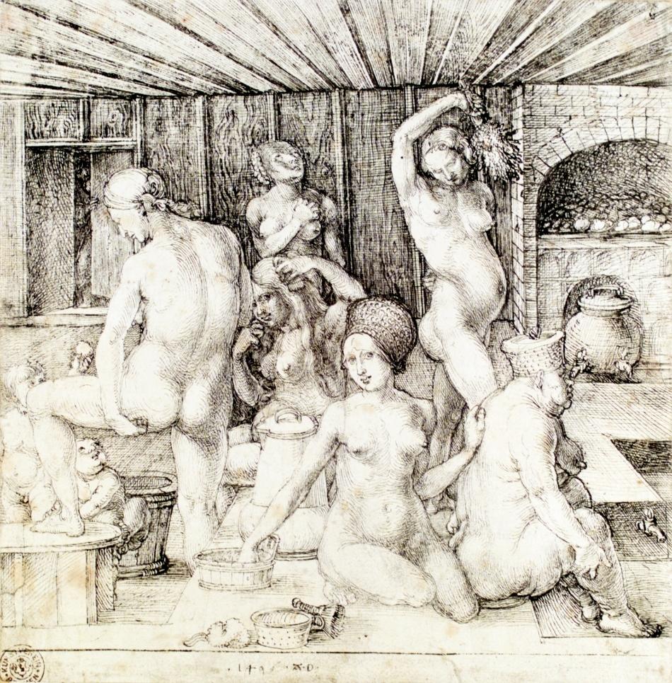 Albrecht Durer (1496) Femei făcând baie