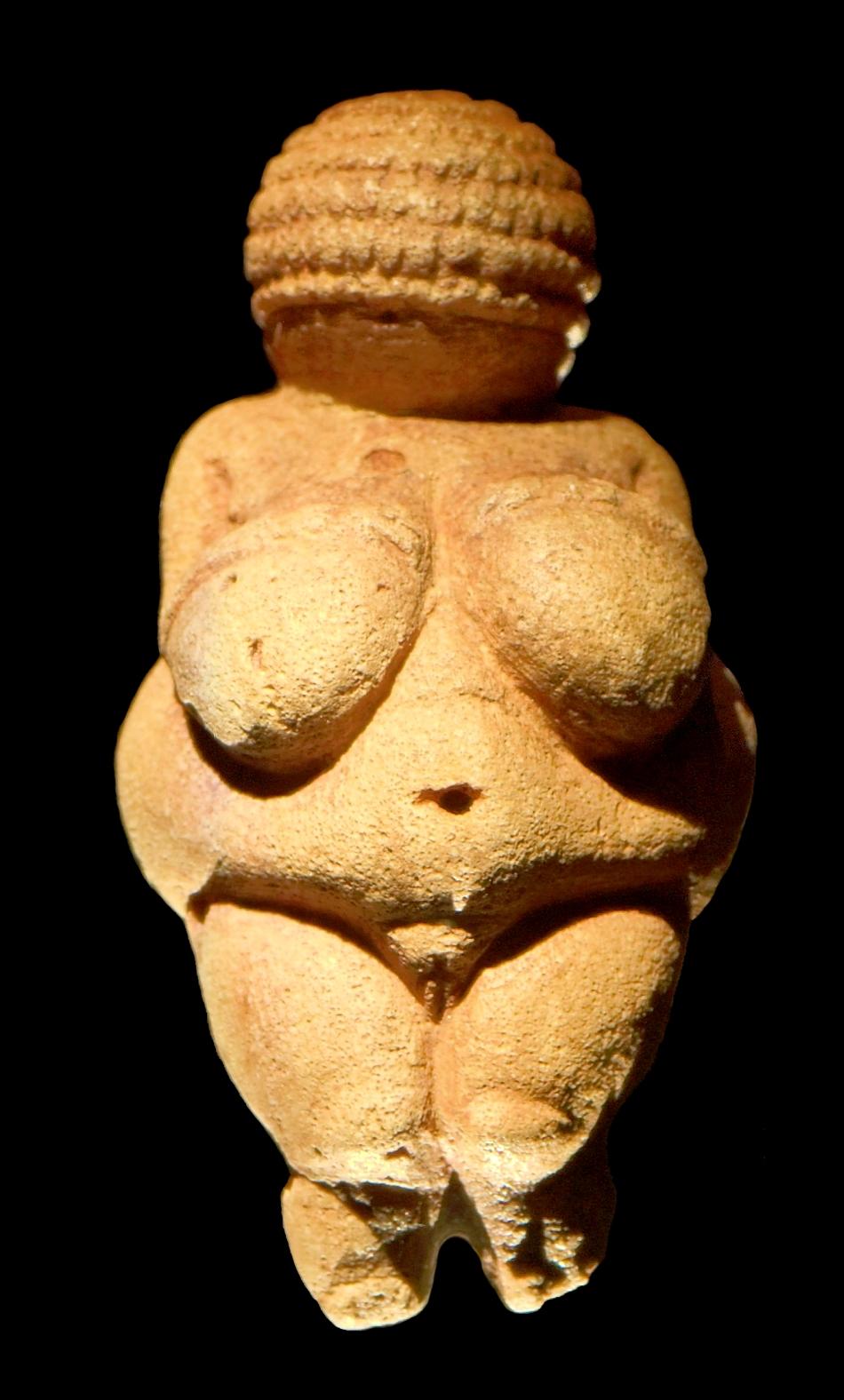 Venus din Willendorf (Austria), una dintre cele mai celebre figurine de acest gen; are 11 cm înălţime şi datează din 24.000 - 22.000 î.e.n.