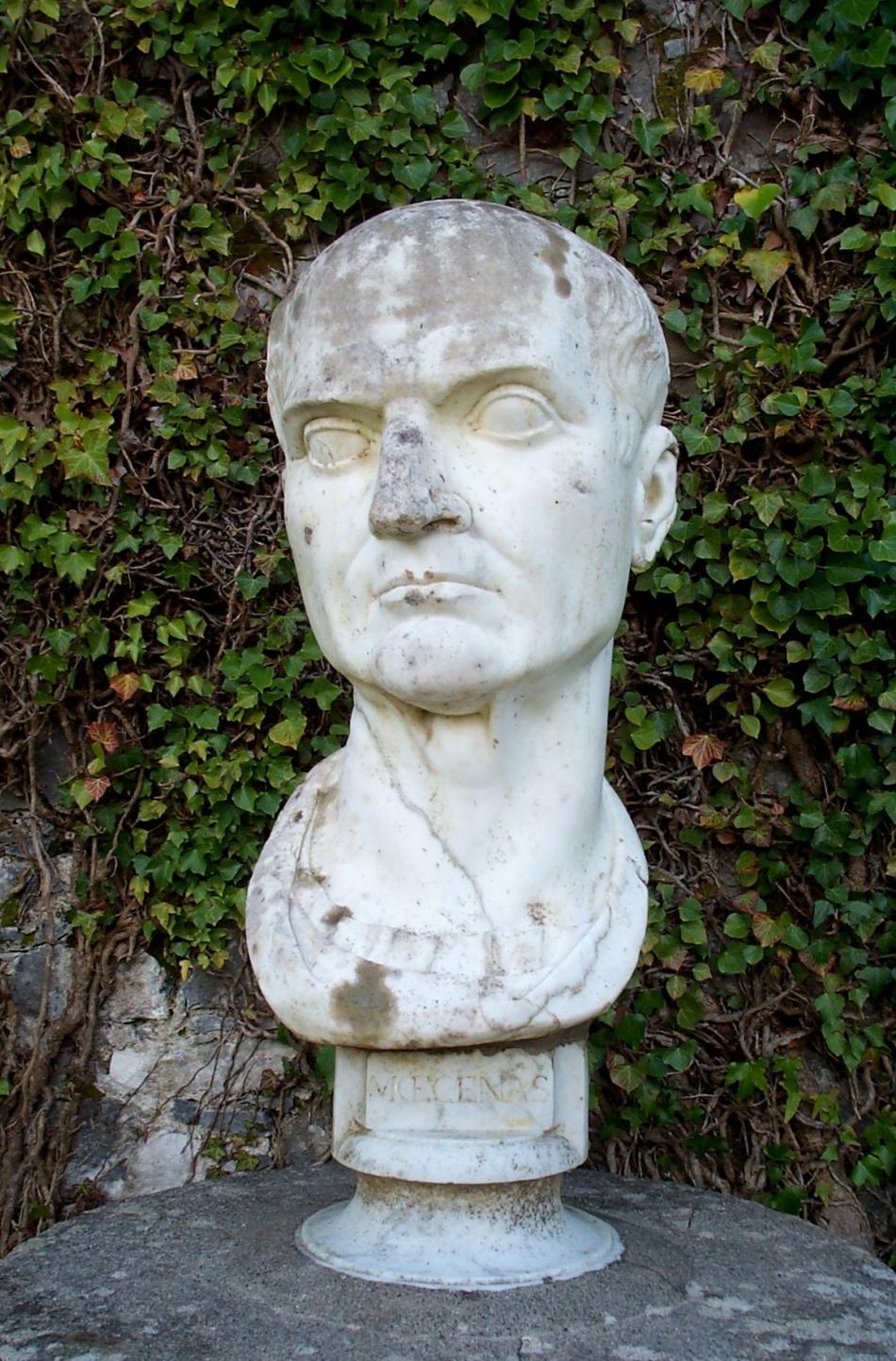 statuia lui gaius mecenas