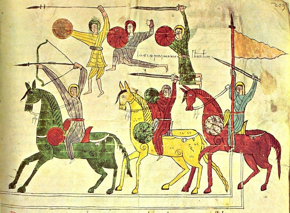 Ilustraţie din Beatus de la Seu d'Urgell, un manuscris împodobit cu miniaturi, datând din secolul al X-lea şi cuprinzînd un comentariu al cărţii Apocalipsei.