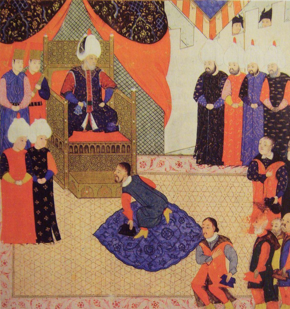 Regele Ungariei jurandui-i credinta lui Soliman Magnificul