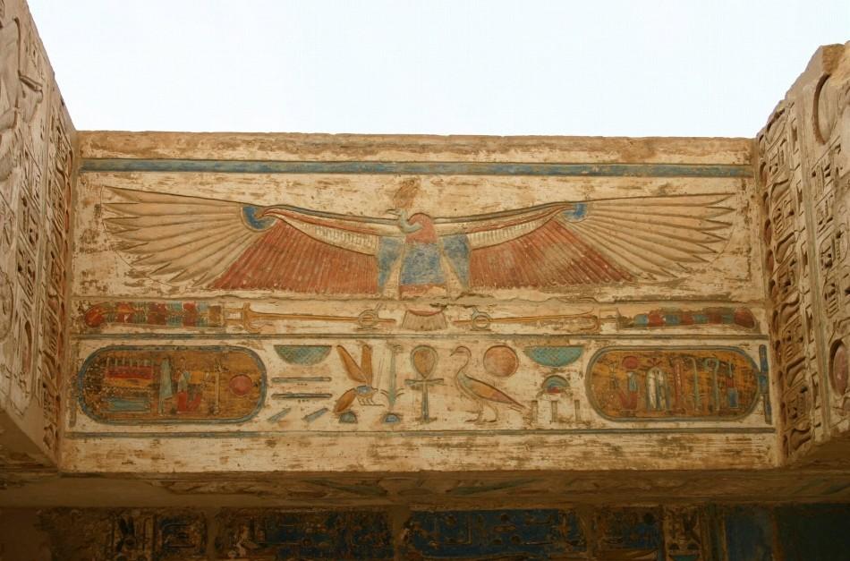 Simbol deasupra unui mormânt egiptean