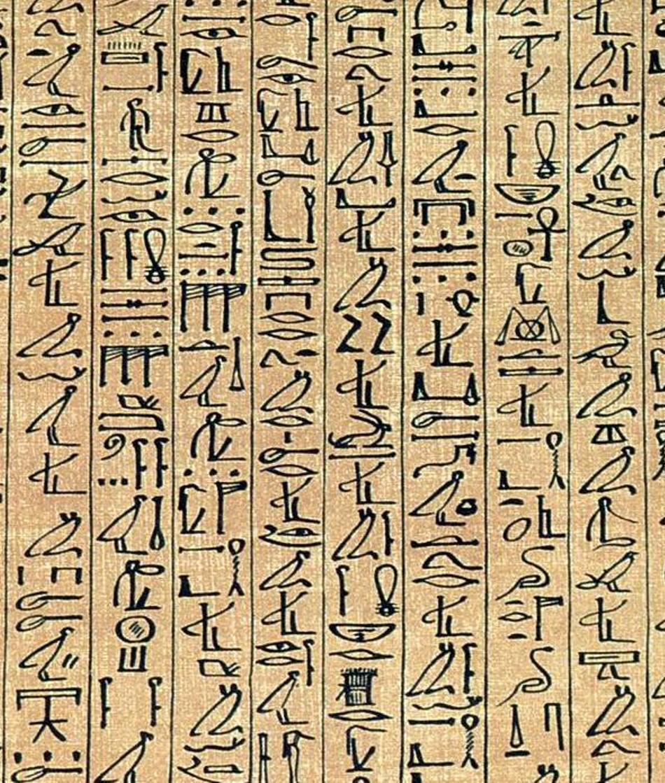 Hieroglife egiptene din Papirusul Ani