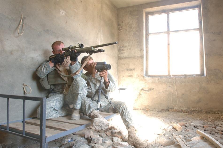 Echipă de lunetişti americani în Irak