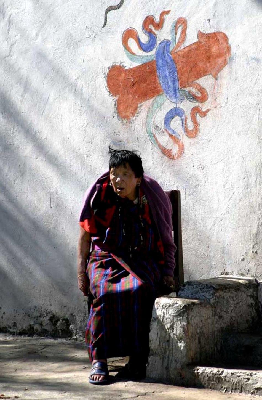 Zidul unei case din Bhutan