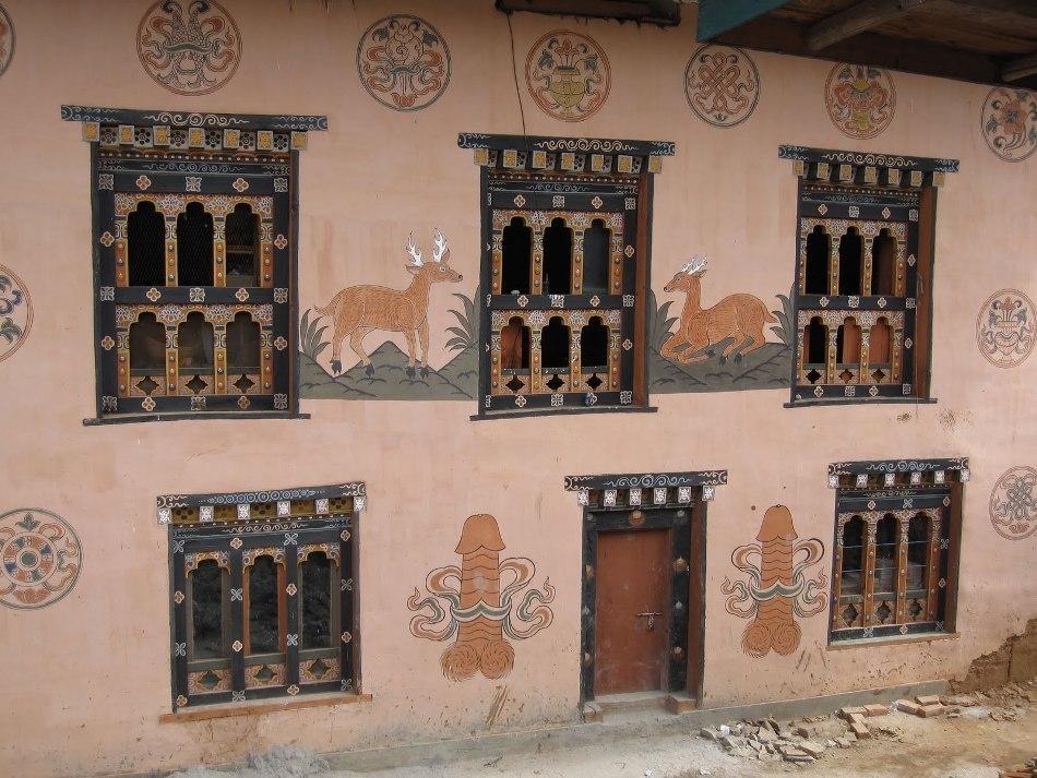 Casă din Bhutan