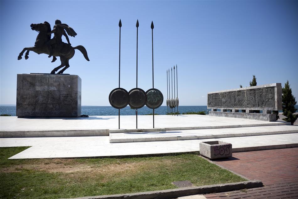 Statuia omagială a lui Alexandru Macedon din Thessaloniki