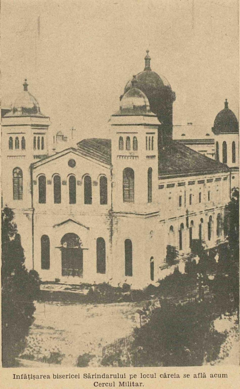Biserica Sarindarului, actualul loc pe care se află Cercul Militar