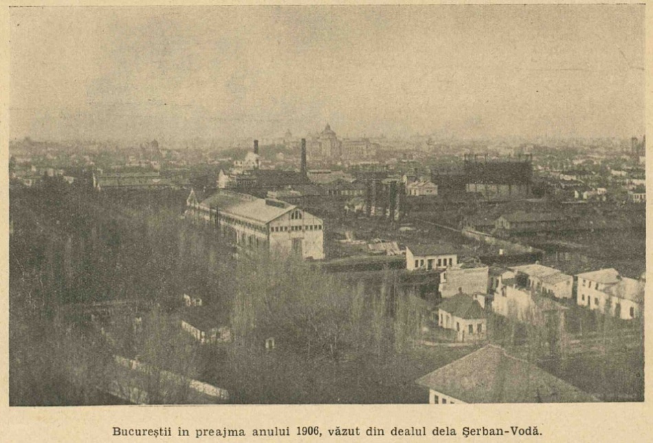 Bucureştiul văzut de pe dealul Şerban Vodă