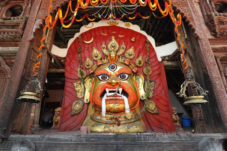 Imagine tradiţională din Tibet a zeiţei Kali