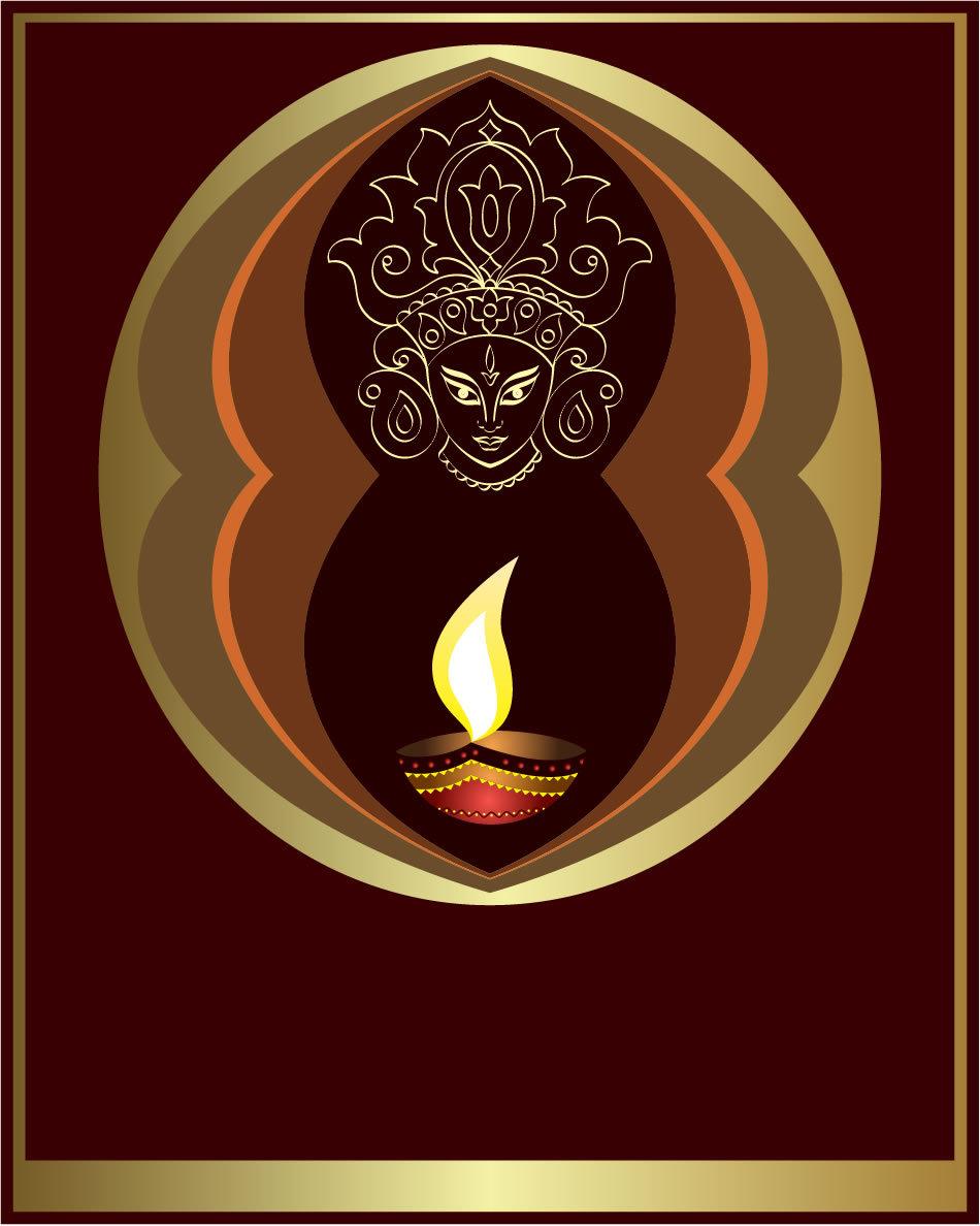 Imagine stilizată a zeiţei Kali