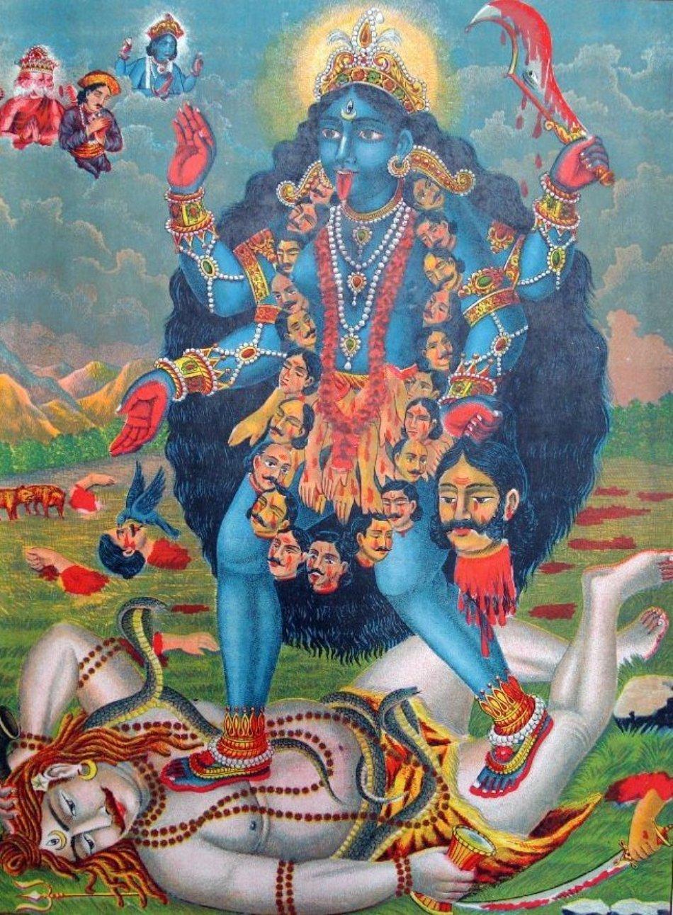 Durga, imaginea feroce a zeiţei Kali