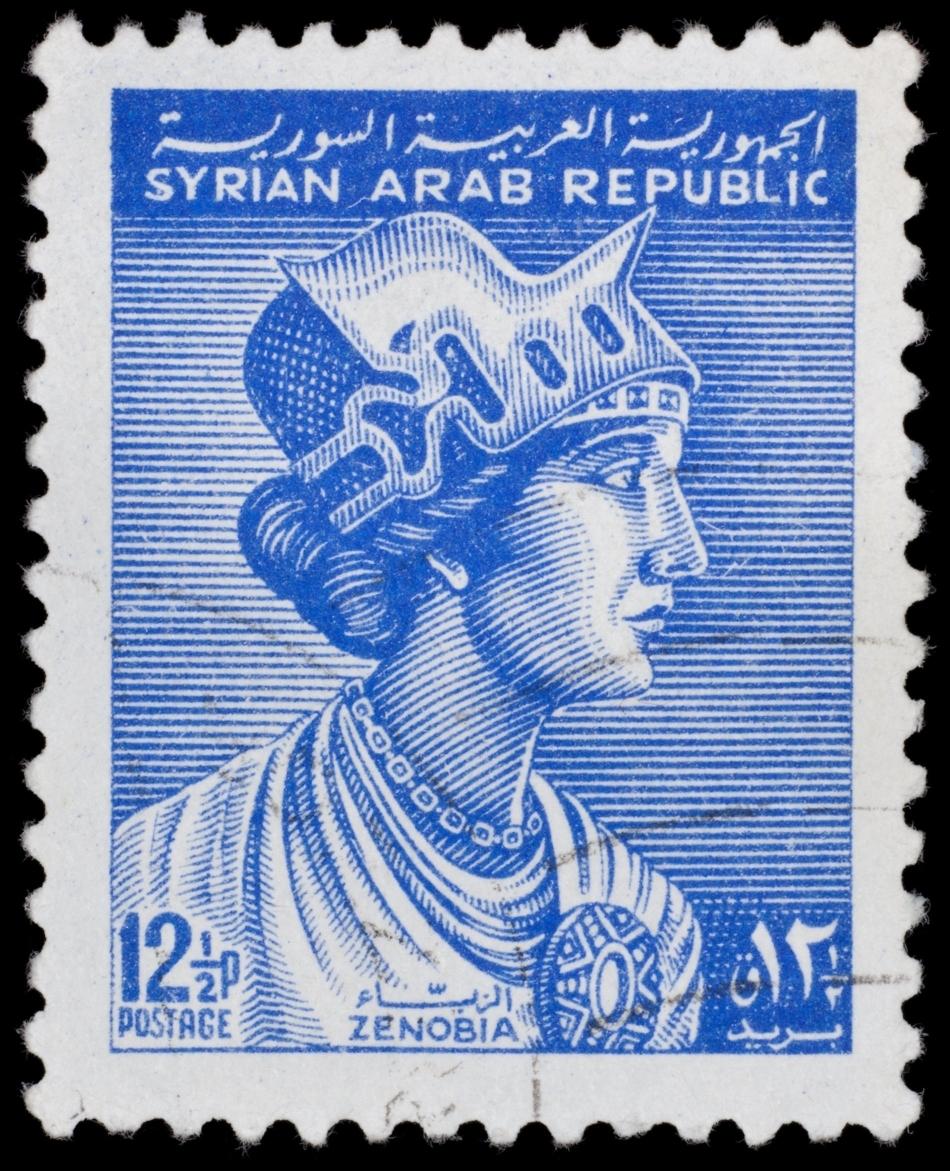 Timbru omagial dedicat reginei Zenobia