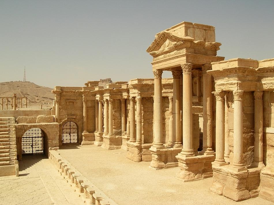 Ruinele vechiului teatru din Palmyra