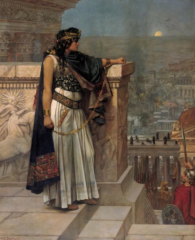 Regina Zenobia într-un tablou al pictorului Herbert Gustave Schmalz