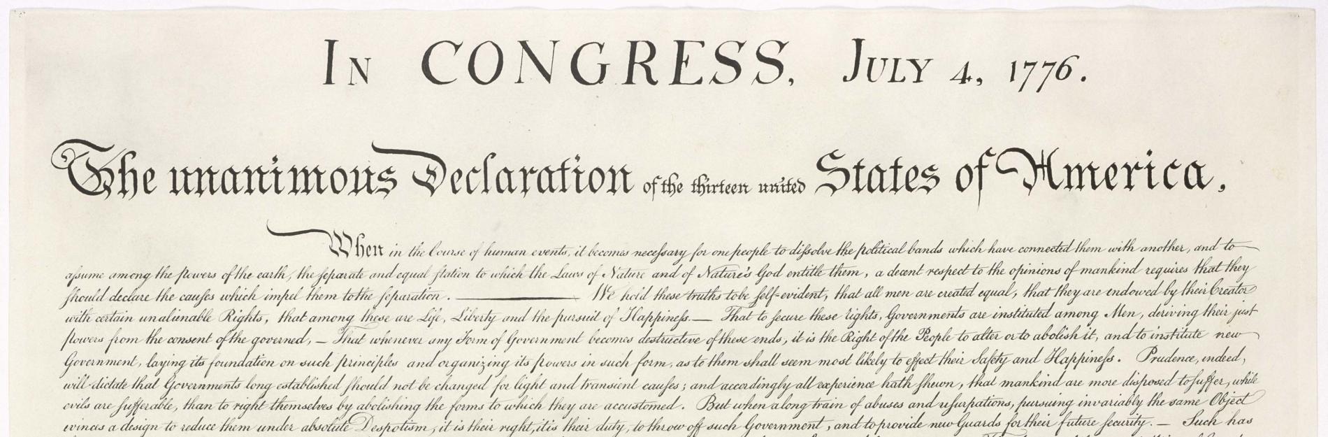 Declaraţia de independenţă a SUA