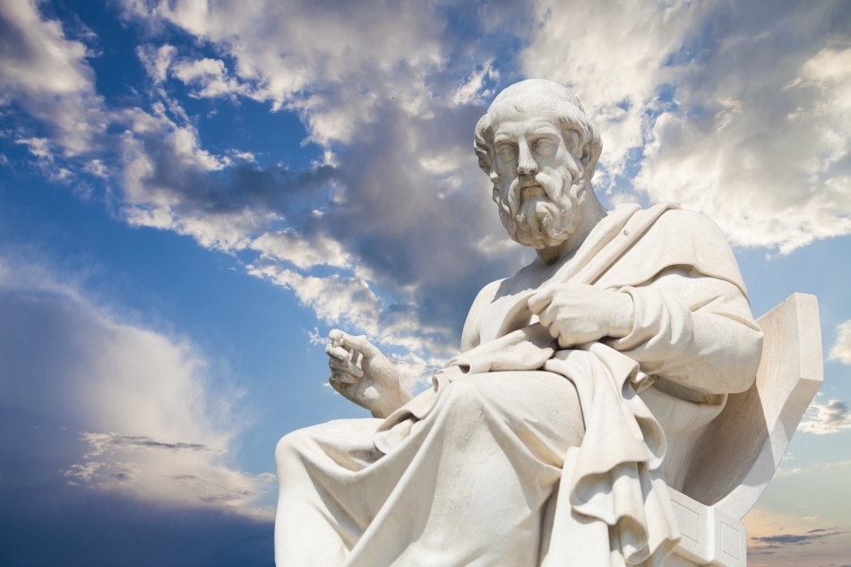 Statuia lui Platon ce se găseşte în Academia din Atena