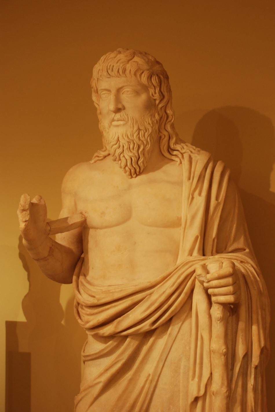 Sculptură antică ce îl reprezintă pe Apollonius din Tyana