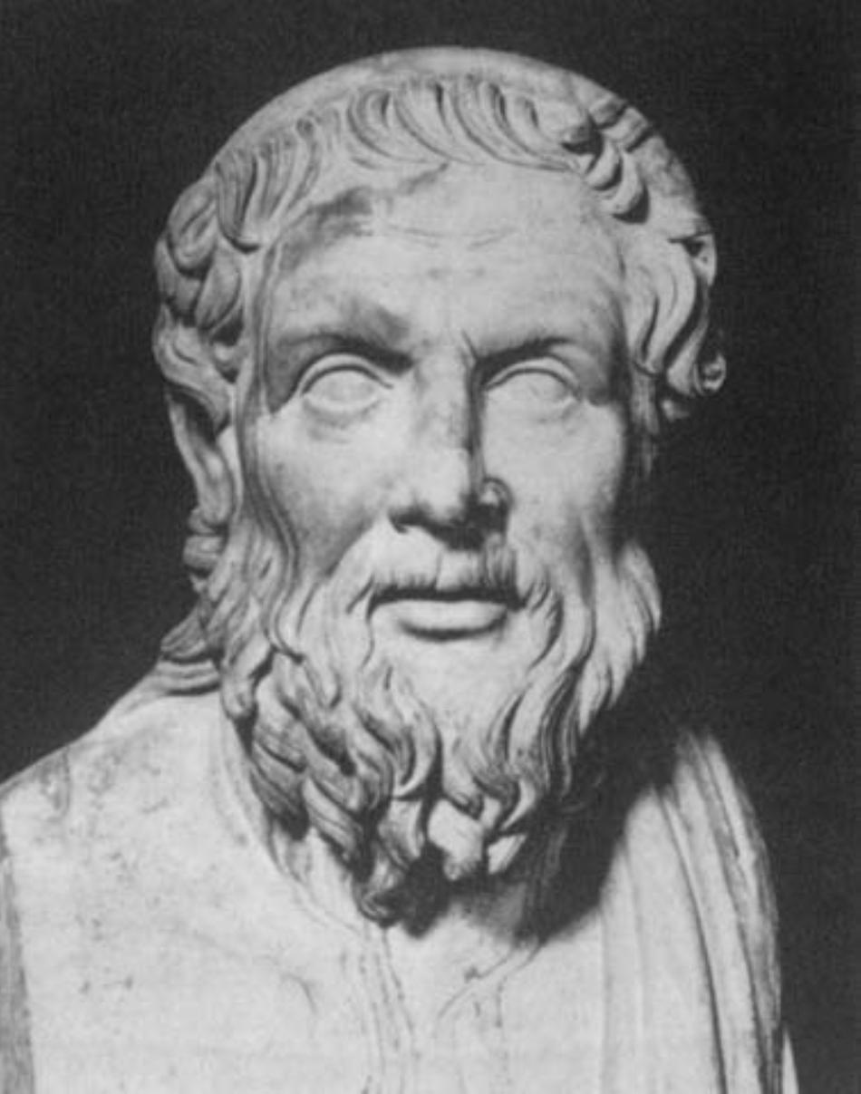 Figura lui Apollonius, sculptată de contemporanii săi