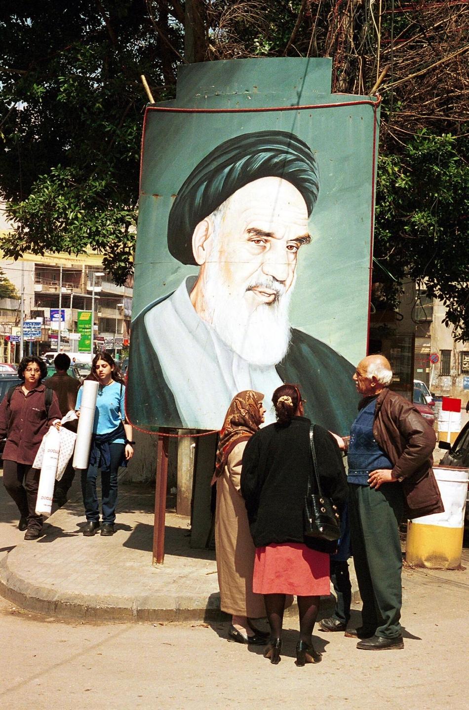 Portretul Ayatollahului Komeyni este omniprezent în Iran