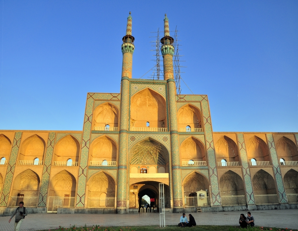 Moschee şiită din Yazd, Iran. Monument UNESCO