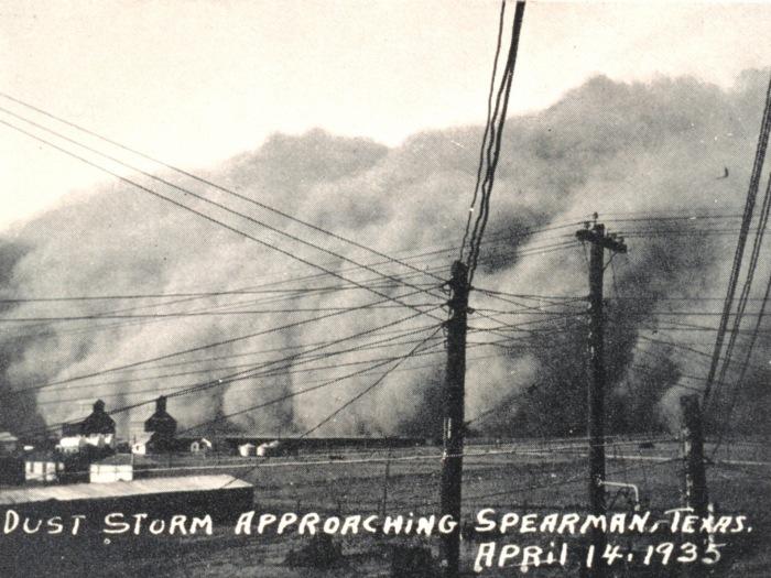 Furtună de nisip, Texas, 1935