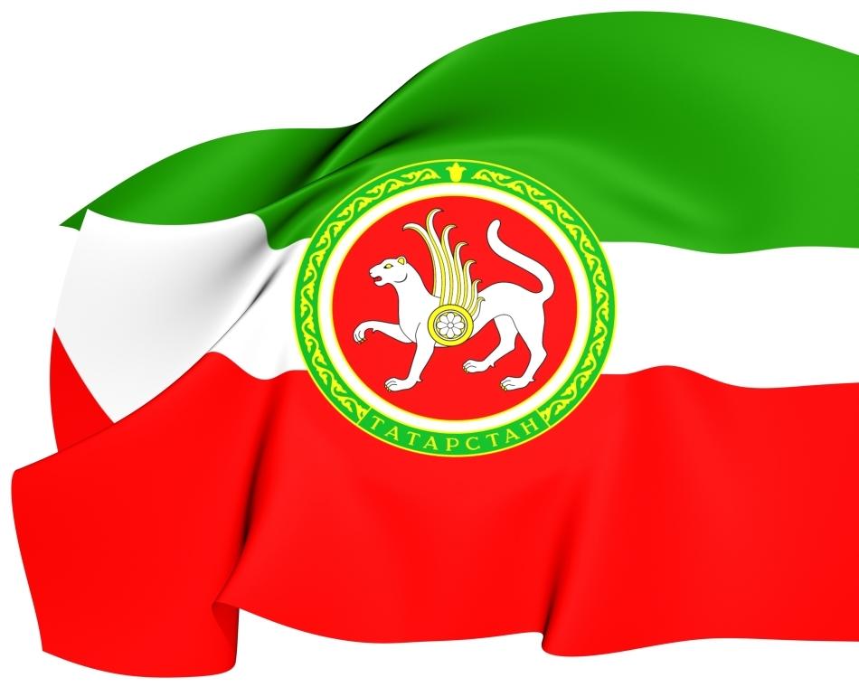 Steagul naţional al Republicii Tatarstan din cadrul Federaţiei Ruse