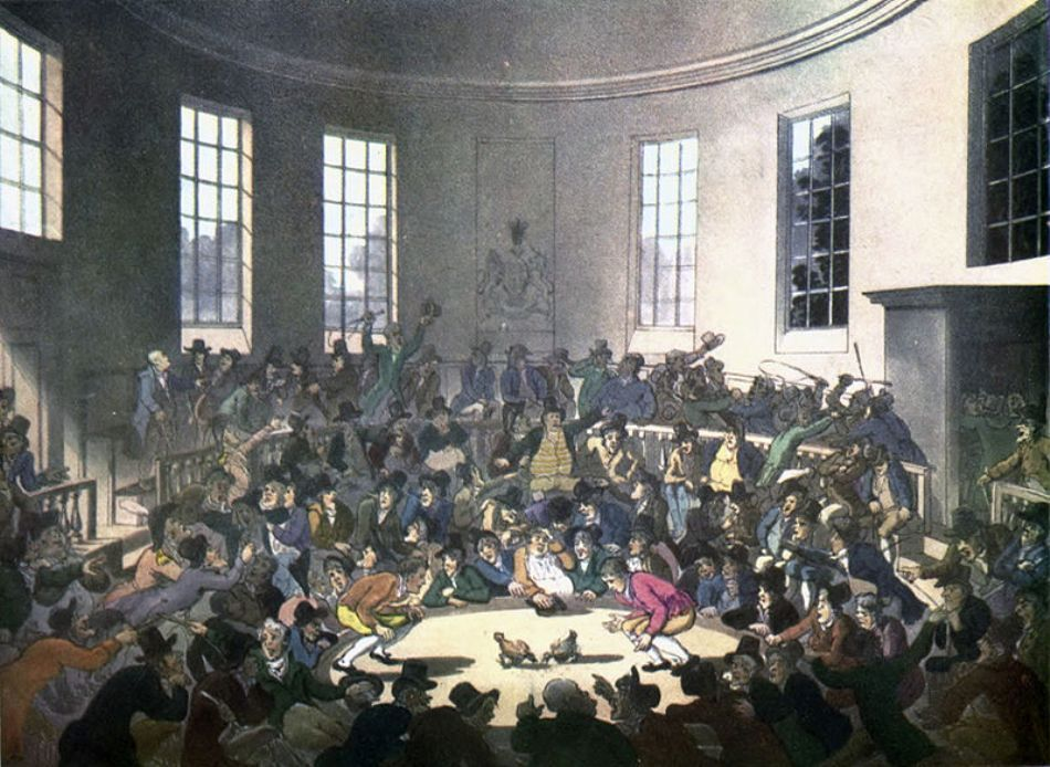 Luptă de cocoşi din Londra anului 1808
