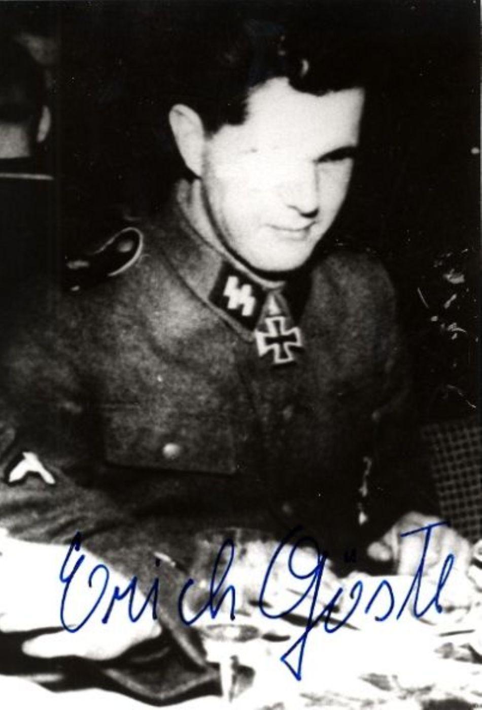 Fofografia şi semnătura lui Erich Gostl