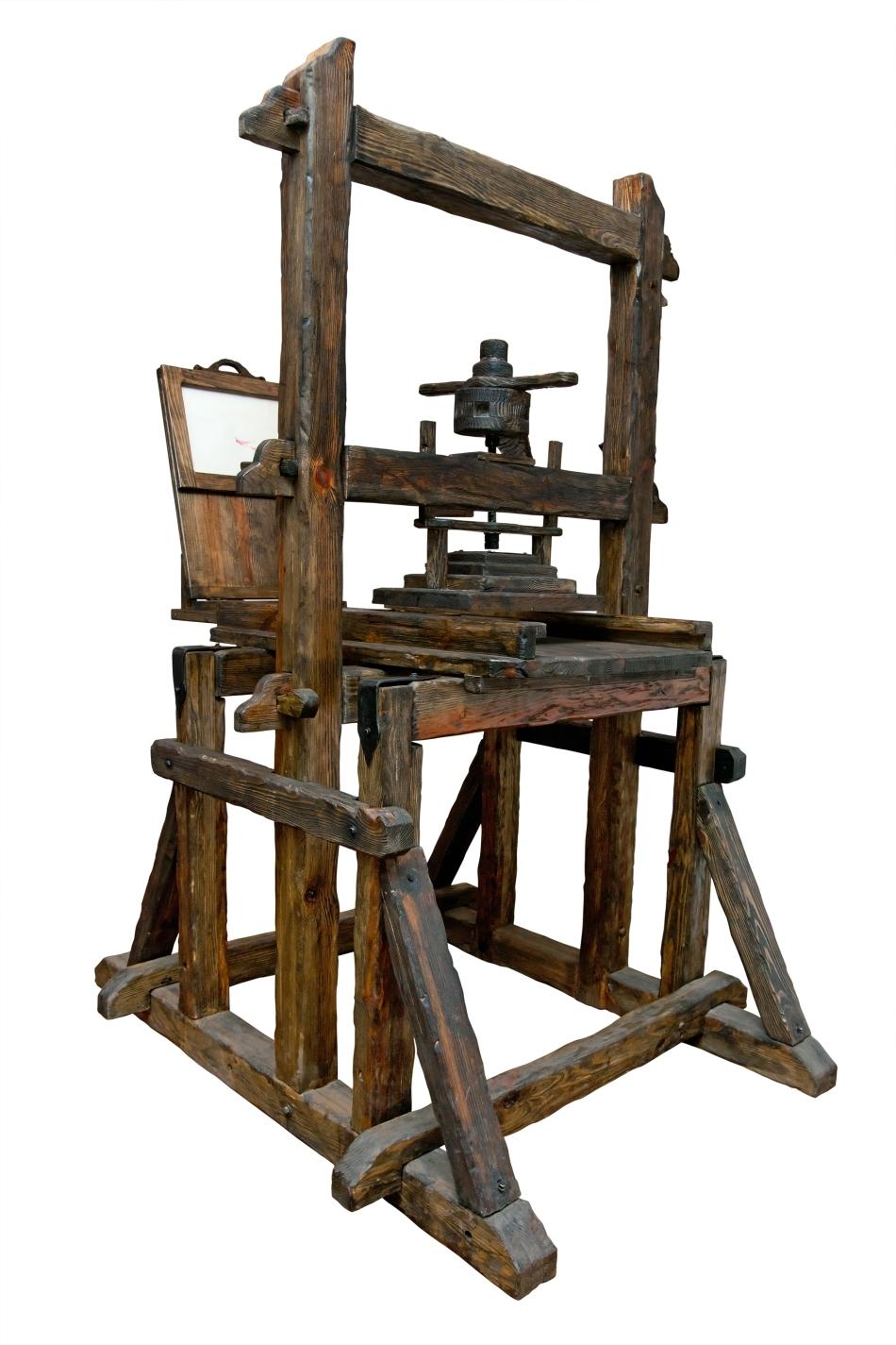 Presă de tipărit din perioada medievală