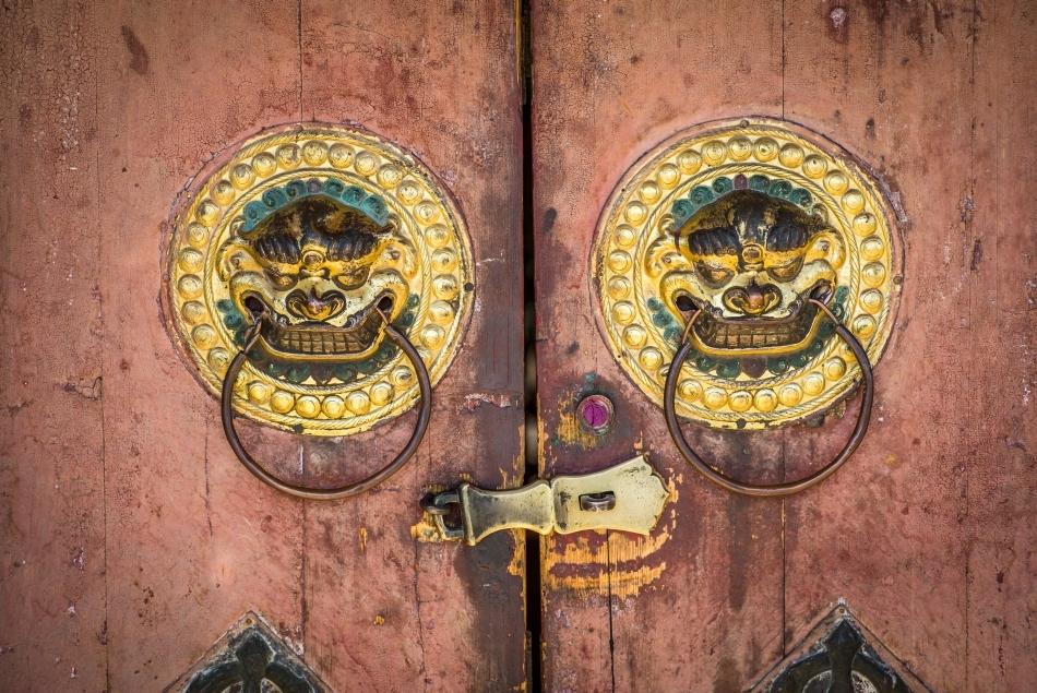 Poarta templului Erden Zuu, unde a intrat şi baronul von Ungern