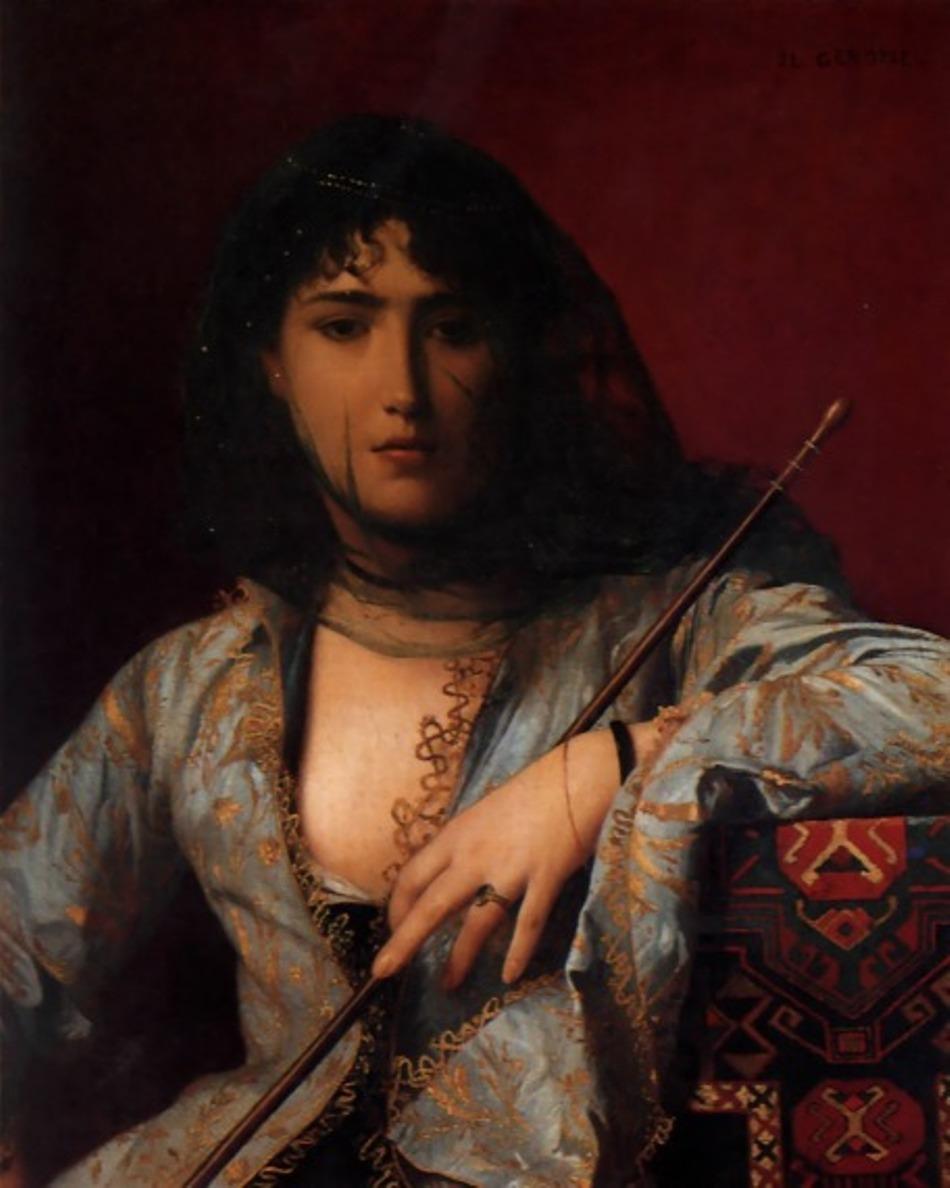 Portret al unei femei cercheze din trecut, realizat de pictorul Jean Lerome Gerome