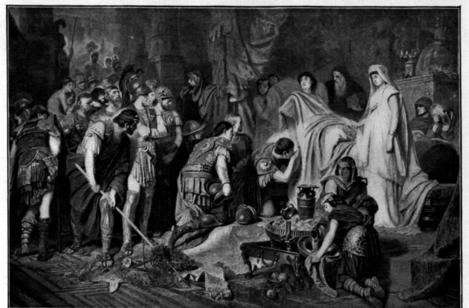Moartea lui Alexandru Macedon, tablou de Karl von Piloty