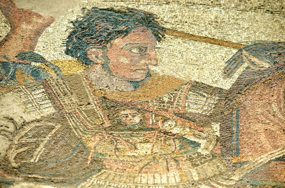 Mozaicul din Pompei care-l reprezintă pe Alexandru cel Mare