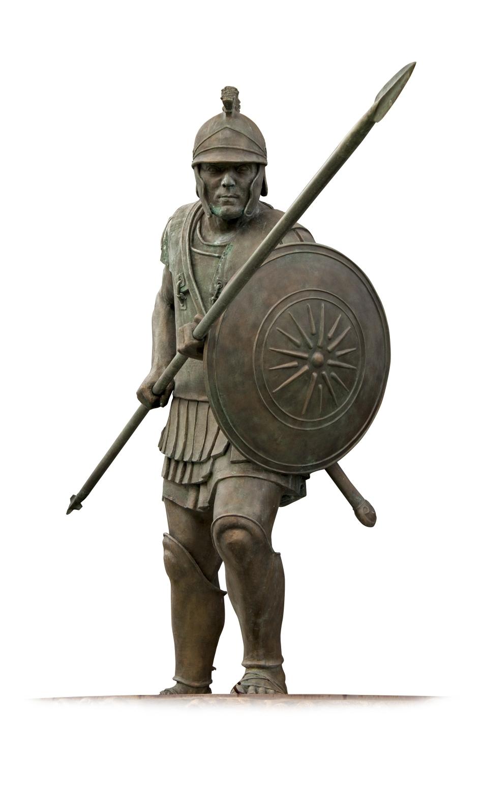 Statuia unui soldat macedonean