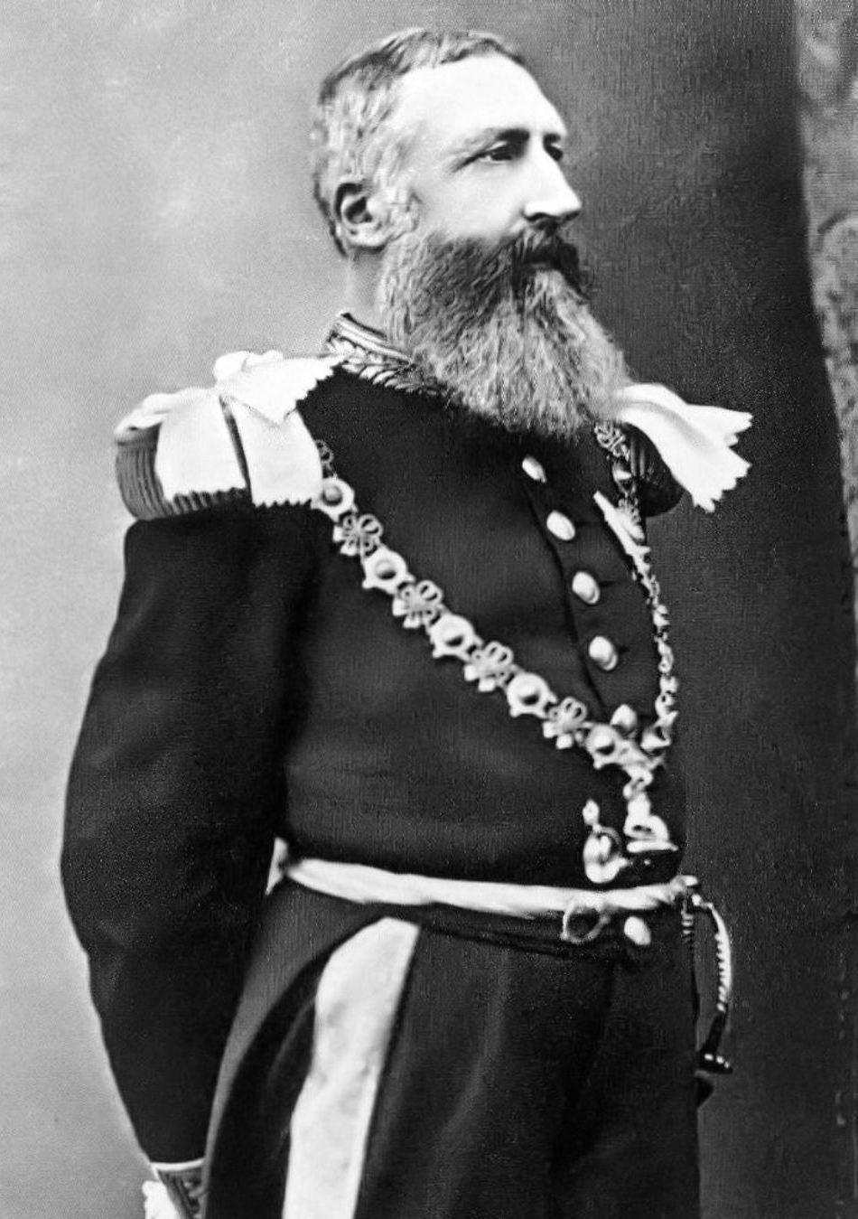 Regele Leopold al doilea al Belgiei într-o fotografie de epocă