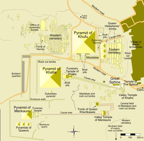 Complexul funerar de pe platoul Giza