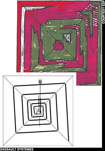 Rezultatul testului de micro-gravimetrie, care arată diferenţe în densitatea unor secţiuni ale piramidei lui Keops