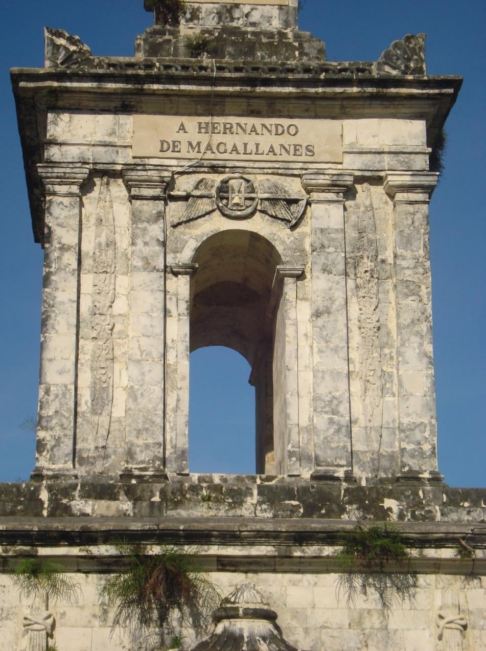 Monument ridicat pe locul und ea fost ucis magellan, în oraşul Lapulapu din Insula Cebu, Filipine