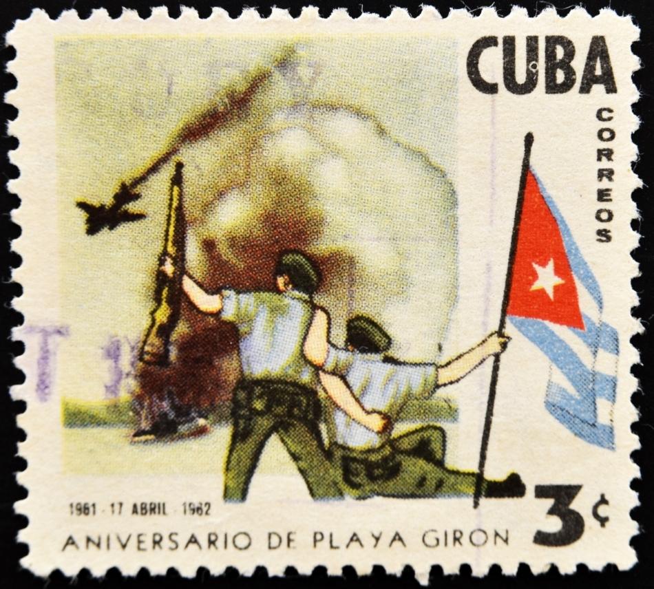 Una dintre numeroasele mărci poştale care omagiază respingerea americanilor de către cubanezi