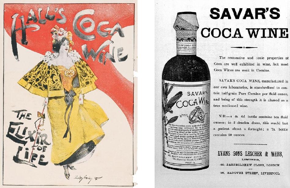 Reclamă la vin cu cocaină