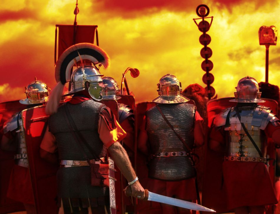 Pretorieni înainte de luptă.