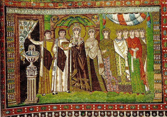 Împărăteasa Teodora cu suita ei