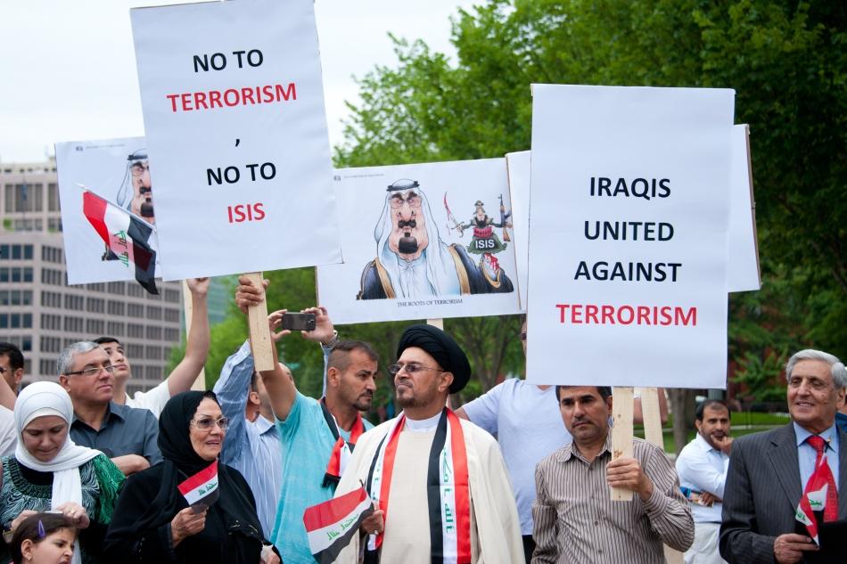 Demonastraţie contra ISIL la Bagdad