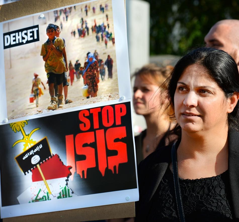Demonstraţie contra ISIS.