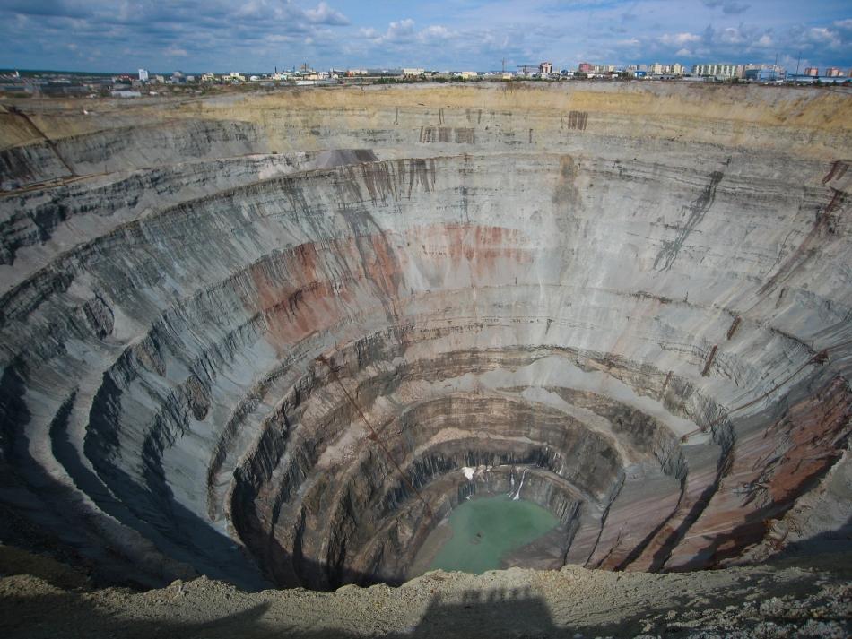 Mină de diamane din Africa de Sud.