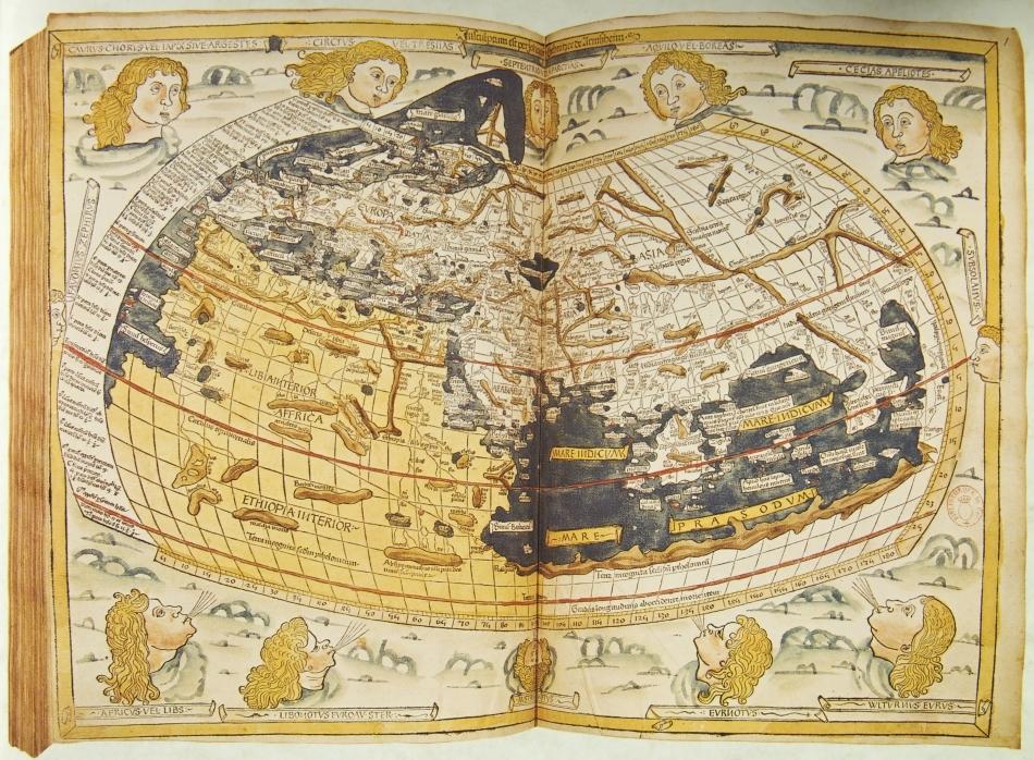 Hartă din Evul Mediu, folosită de navigatorii hanseatici.
