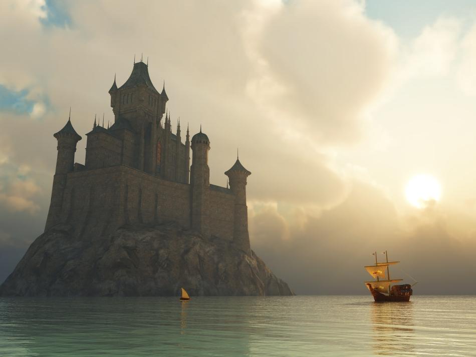 Comerţt medieval în Marea Nordului.